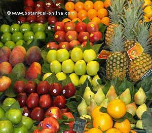 fruta en el mercado