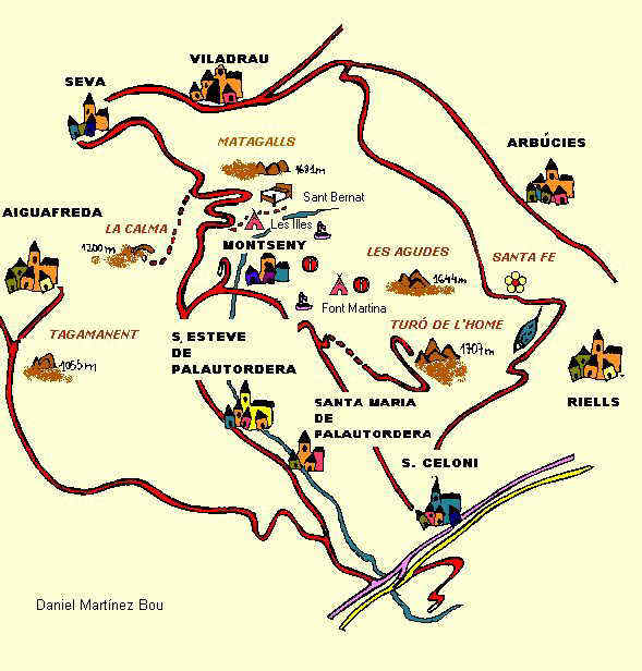 Mapa del montseny