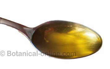 Olive oil spoonfull