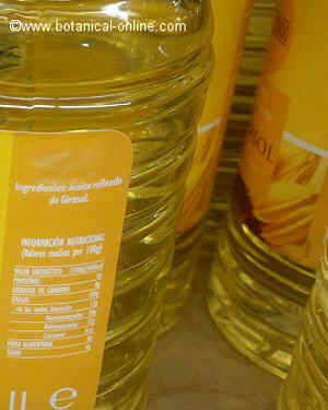 Properties of sunflower oil
