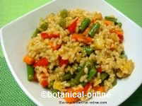 Whole rice with vegetables