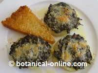 Potatoes stuffed with borage and Parmesan