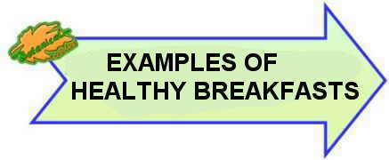 examples of healthy breakfast sign