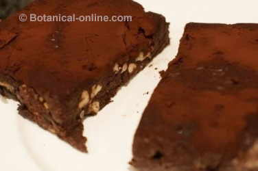 brownie with cocoa and walnuts