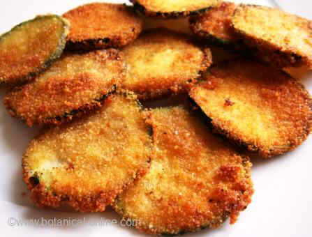 Breaded courgette