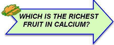 fruits rich in calcium