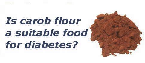 carob for diabetes