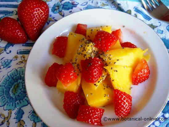 Photo of chia fruit salad