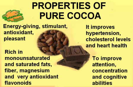 main properties of pure cocoa