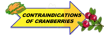 Contraindications of cranberries drawing