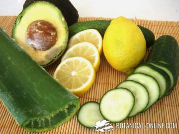 Ingredients of homemade natural cosmetics