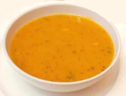 Pumpkin cream with algae