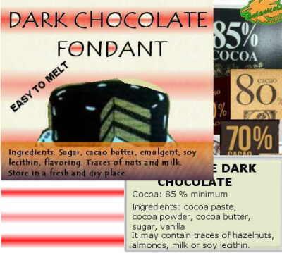 etiquetas chocolate azucar ingredientes