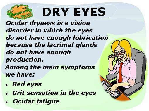 tratamiento natural de los ojos secos o sequedad ocular