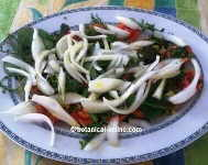 Herbs salad with onions