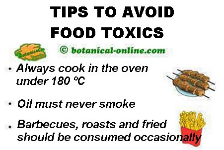 Some tips to reduce the toxic components in the food.
