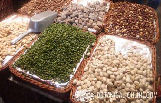 nuts in a market
