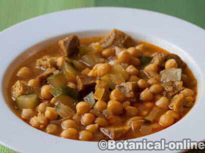 chickpeas with seitan