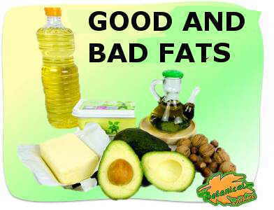 photo of good and bad fats