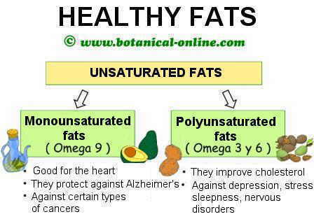 Healthy fats omega 6 and omega 3