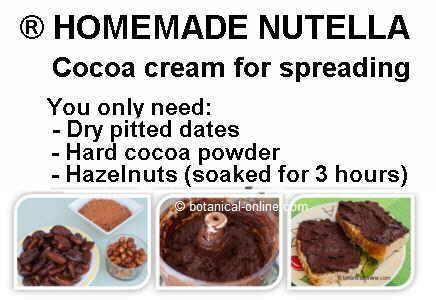 homemade nutella ingredients