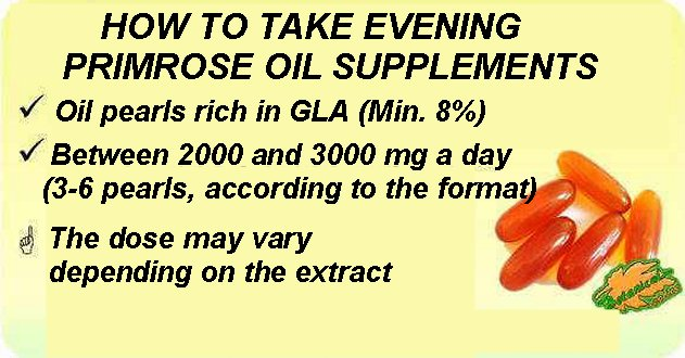 how to take evening primrose oil supplements
