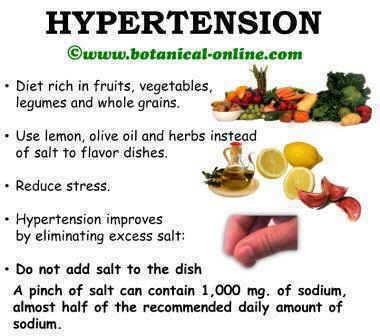 Diet to reduce high blood pressure