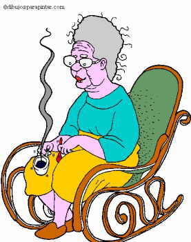 older person sitting in rocking chair