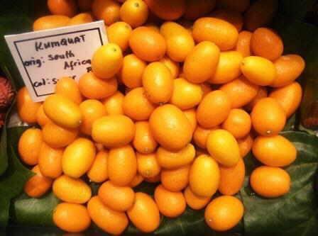 Kumquats on the market