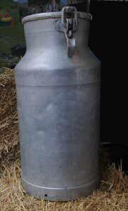 aluminum milk container