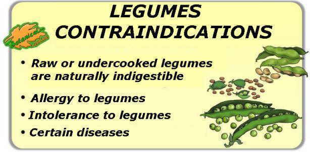main contraindications of legumes