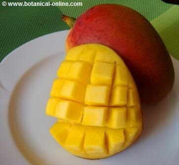 Mango peeled and cut into pieces