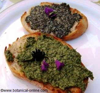 nettles butter toasts