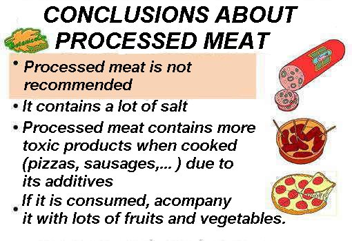 Processed meat properties