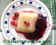 agar agar gelatin with wild flowers