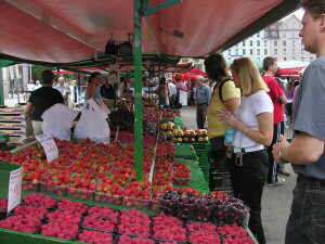 strawberry market at Norway