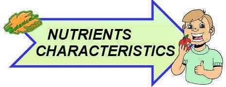 nutrients characteristics