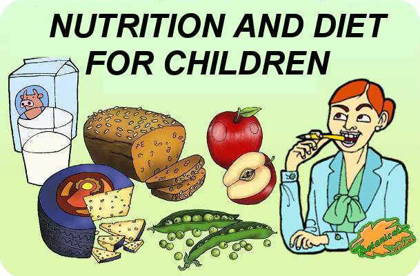 didactic material on nutrition and dietetics for children