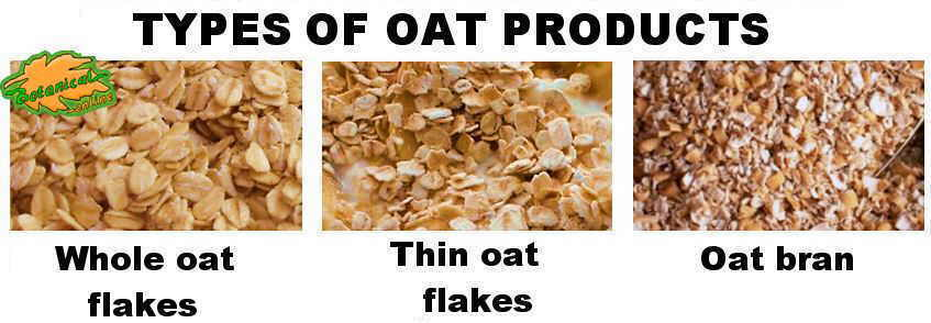 Types of oatmeal products