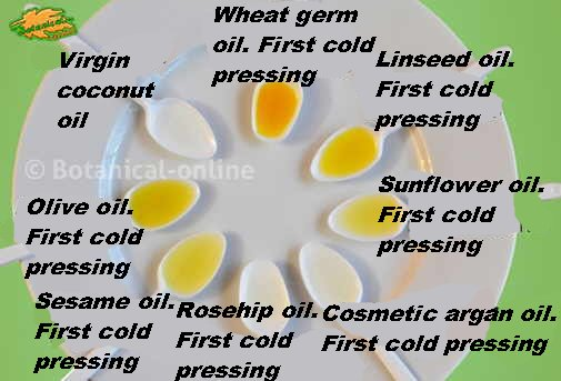 different types of oils