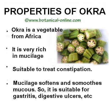 medicinal properties of okra