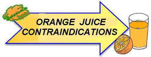 orange contraindications