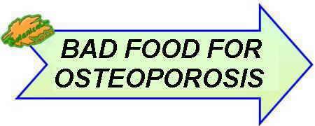 alimentos malos osteoporosis