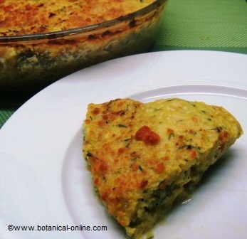 quiche of tofu with vegetables