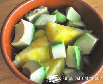 avocado and pineapple