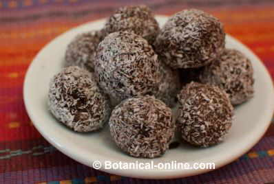 truffles with cocoa and coconut