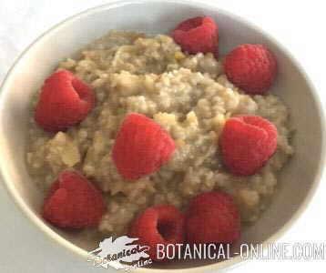 Oatmeal and apple porridge