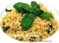 Quinoa with basil