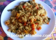Quinoa with pumpkin and cumin