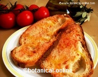 Receta de pan con tomate